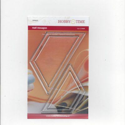 Transparante Quiltstempel CRP0025 Halve hexagonnen