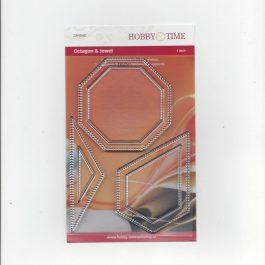 Transparante Quiltstempel CRP0040 o.a 1 inch Octagon