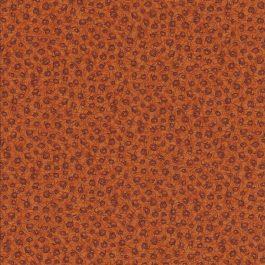 Warm oranje stof met donkere motiefjes-Stof Fabrics
