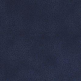 Donker blauwe stof met mini blaadjes-Stof