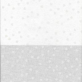 Witte stof met zilveren hartjes-Stof Fabrics