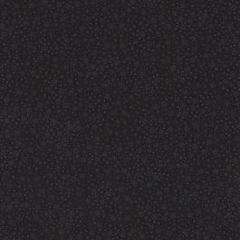Zwarte stof met mini bloembollen-Stof