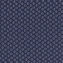 Donker paarse stof met witte en paarse bloemen takjes-Windham