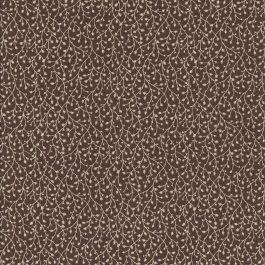 Midden bruine stof met takjes motief-Windham