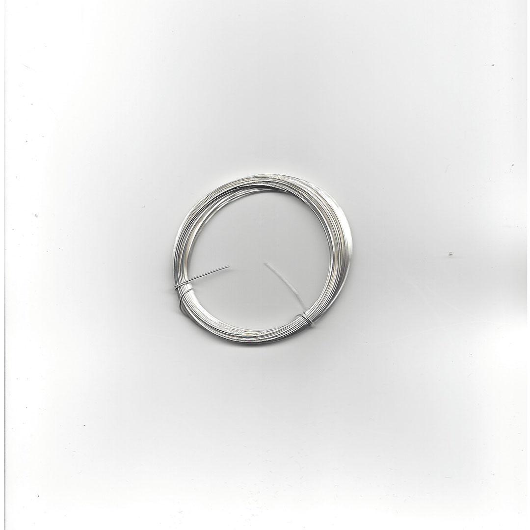 Verzilverd ijzerdraad 0.6 mm 10 meter