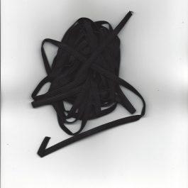 Mondkapjes Elastiek 5 meter Zwart
